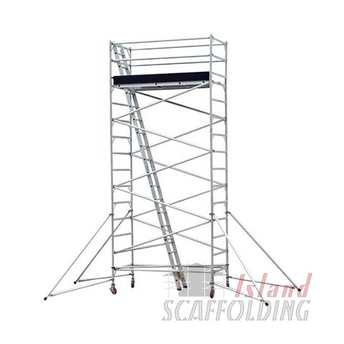 Portable Scaffolding With Wheels : Mobile scaffold hire m high weekly rates